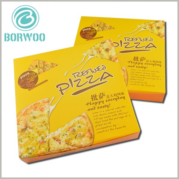 8 inch pizza boxes recyclable. The customized packaging uses 350gsm single-powder paper as the raw material, which reduces the manufacturing cost and weight of the packaging