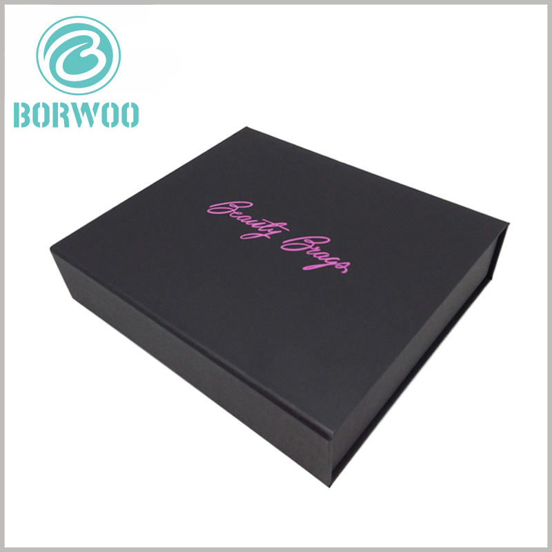 Black cardboard nail polish packaging boxes with logo. Sturdy packaging can play an excellent protective effect on the product and maintain the stability of the product.