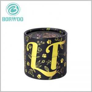 Black cardboard tube boxes for essential oil packaging. The patterns and characters formed by hot stamping and printing will add a high-end visual sense to essential oil packaging.