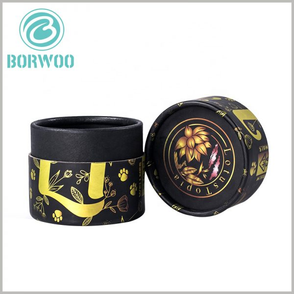 Black cardboard tube for essential oil packaging boxes. The customized cardboard tube packaging uses black cardboard as the main raw material, and the thickness of the inner and outer tubes of the paper tube is 0.8mm.