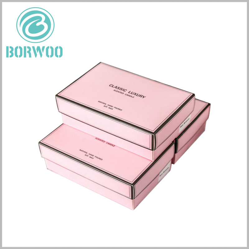 Cardboard candle boxes packaging wholesale. The candle packaging design adds more attractiveness to the product and prevents customers from feeling bored.