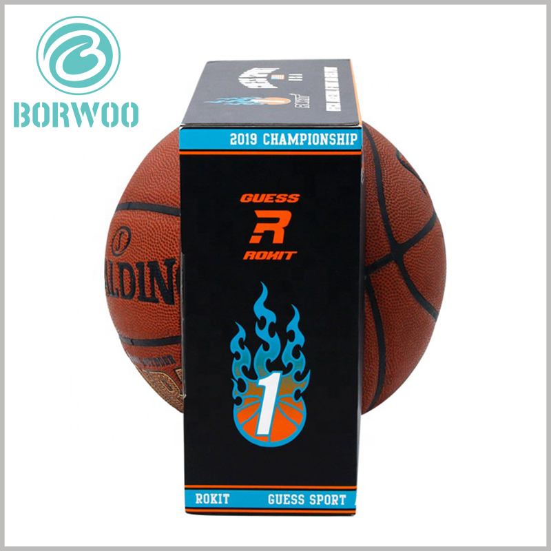 Cheap corrugated sports packaging for basketball. Customized packaging can use the content formed by CMYK printing to promote products and brands.