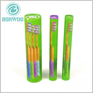 Color cardboard tube for toothbrush packaging.The color cardboard tube packaging adopts CMYK printing, and the paper tube packaging can better reflect the product characteristics.