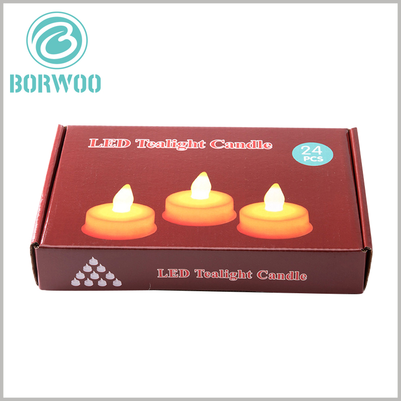 Corrugated packaging for candles boxes. The printable candle packaging can easily reflect the characteristics of the product through patterns and text information.