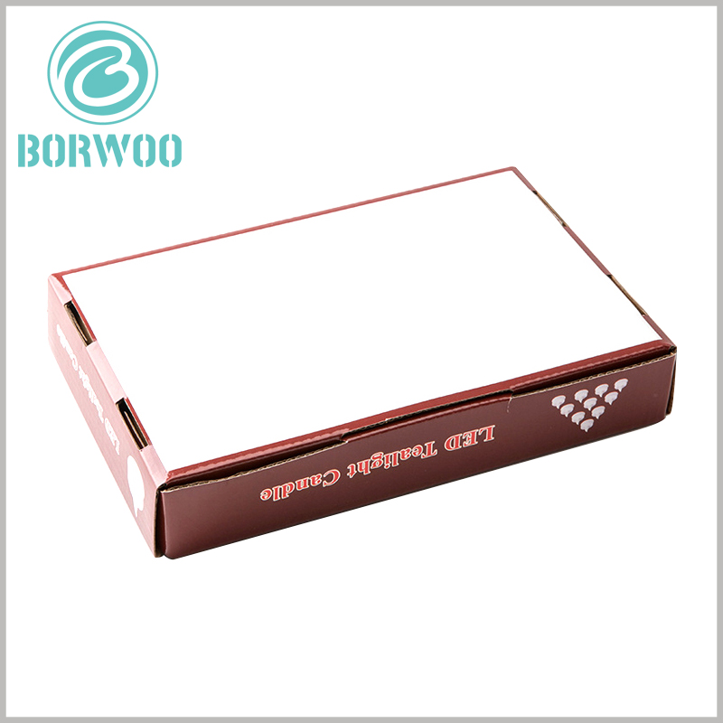 Corrugated paper packaging boxes. The bottom of the printed corrugated paper has a buckle position, which can make the packaging and sealing firmly fixed
