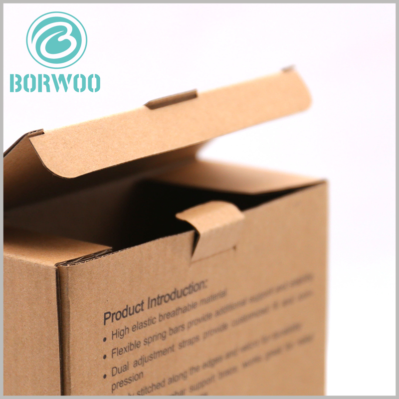 Corrugated sports packaging boxes. The customized corrugated paper packaging is equipped with a buckle, which can easily seal the packaging, and the packaging sealing will not open naturally.