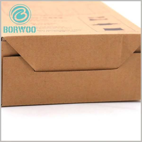 Corrugated sports packaging wholesale. The bottom of the customized corrugated paper packaging is movable, allowing the product packaging to be completely folded.