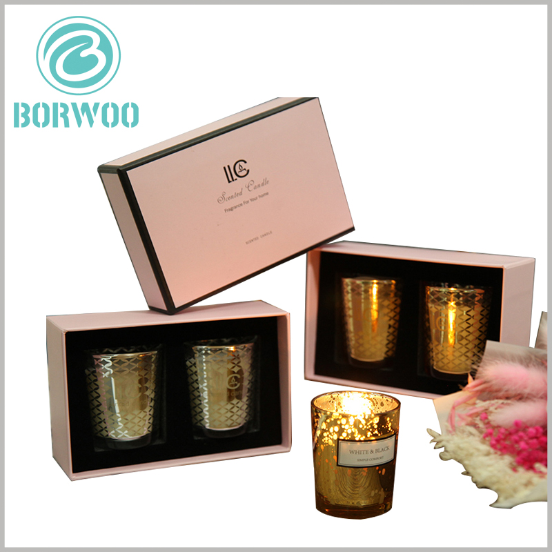Cardboard candle jars boxes packaging. The candle packaging design can better reflect the differences of products and add more charm to brand building.