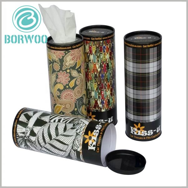 Custom Creative cardboard tube for Paper towel packaging. The tissue packaging can print any content, and the unique packaging design can shape the unique packaging appearance and vision to attract customers' attention.