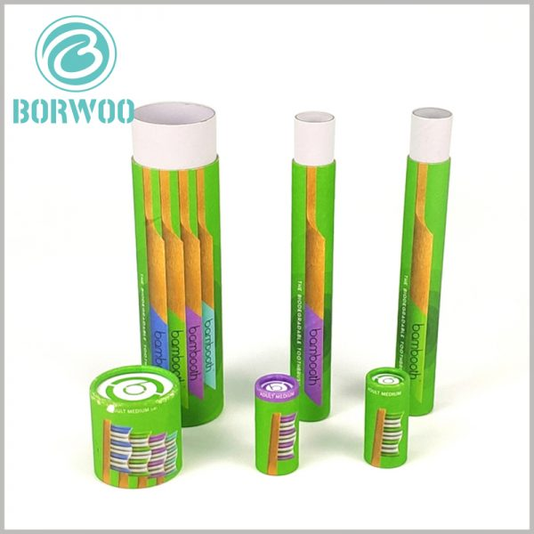 Custom-cardboard-tube-for-toothbrush-packaging. Customized packaging has product patterns on the surface, which can target the characteristics of the product.