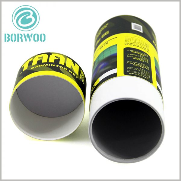 Custom paper tube for badminton net packaging. The excellent color scheme and packaging design enhance the attractiveness and publicity of sports product packaging.