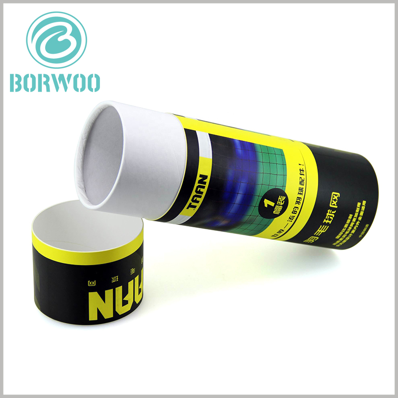 Custom paper tube packaging for badminton net boxes. The high-quality ink printing ensures that the packaging design can be embodied with high quality, which is very helpful to reflect the value of the product.
