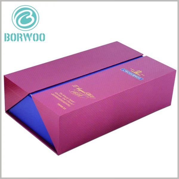 Double open gift boxes packaging wholesale. The content formed by bronzing can be targeted to promote products and brands.