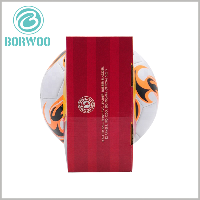 Football packaging boxes with printed. Customized corrugated paper packaging has excellent load-bearing capacity and is one of the best choices for football packaging