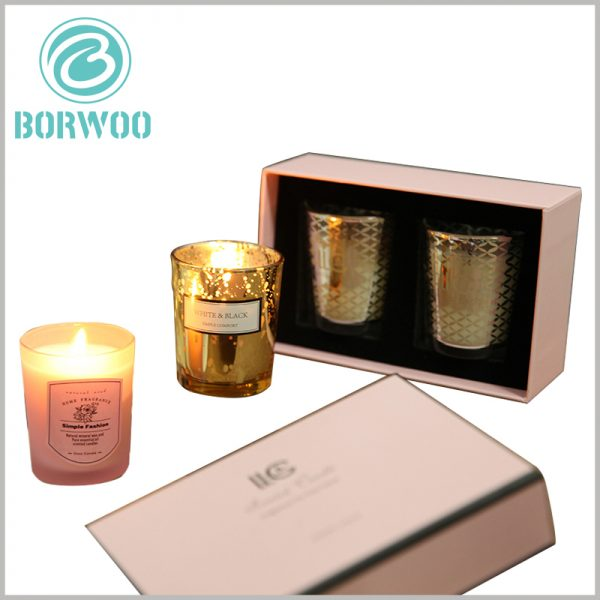 Cardboard candle jars packaging wholesale. Custom packaging design is closely related to the target customer group, and the appearance of candle packaging attracts customers' attention.