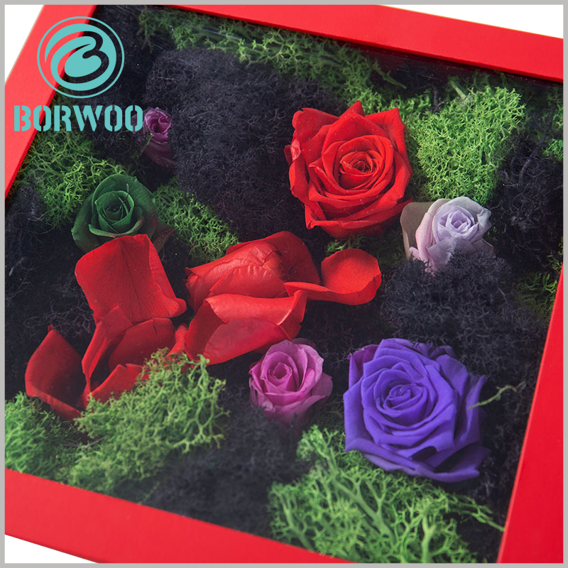 custom flower packaging boxes with windows wholesale