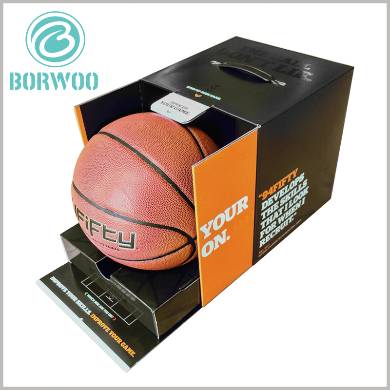 High-end Basketball Packaging boxes. There is a paper tray inside the custom package, which can fix the basketball so that the basketball will not shake inside the package.