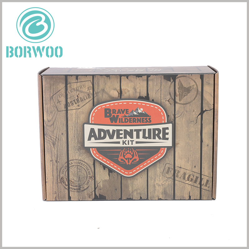 Imitation wood corrugated packaging boxes.Creative packaging design can allow brands to spread quickly and is low-cost; creative packaging can impress customers deeply.
