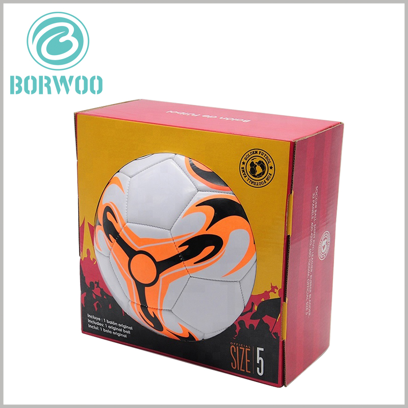 Printable Football packaging boxes, The differentiated printed content will make product packaging unique and attractive.