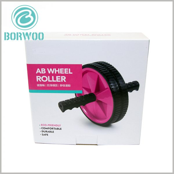Printed corrugated packaging for ab wheel roller. Customized corrugated packaging can customize the printing content and packaging size to suit product promotion and brand promotion.