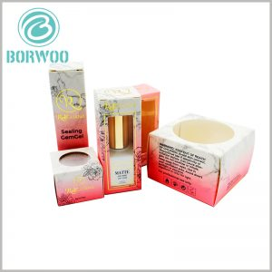 beautiful cosmetic packaging box with window. The unique design of cosmetic boxes is the competitive advantage of products and brands, and will leave a deep impression on customers.