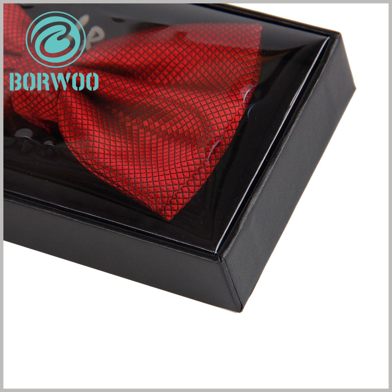 black bow tie packaging box wholesale. The edges and details of the black cardboard box are well handled, and the product packaging becomes even better.