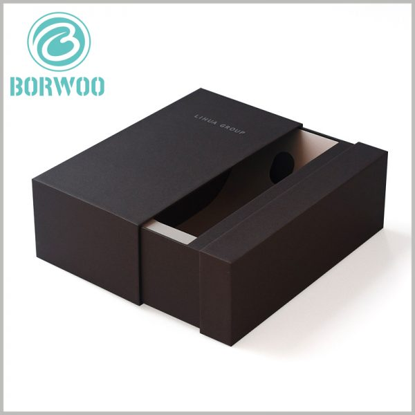 black cardboard drawer boxes wholesale. Customized cardboard packaging has many uses and can be used as wine packaging.