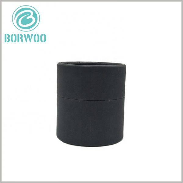 black cardboard tube packaging boxes. Biodegradable product packaging boxes will not cause irreversible impact on the environment.