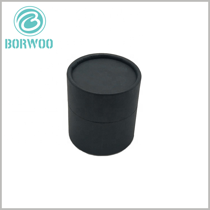 black cardboard tube packaging wholesale. The biodegradable tube packaging is entirely paper-based, which can be recycled or dissolved in the environment in water.