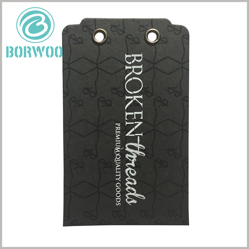 black paper hang tag of jeans