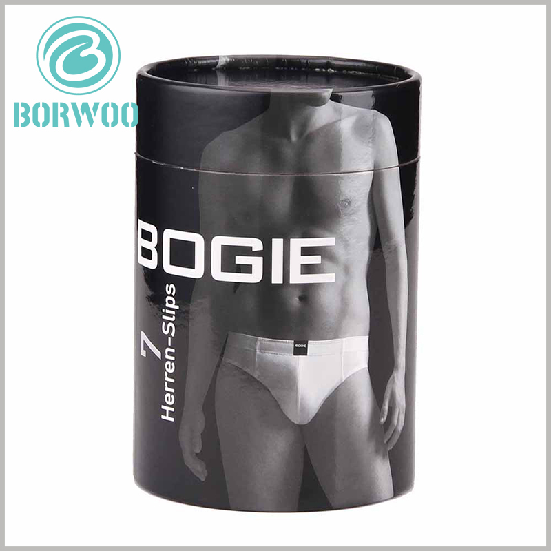 black paper tube for men's underwear boxes. One of the best ways to show the attractiveness of the product is to use the image of the product on the cardboard tube packaging