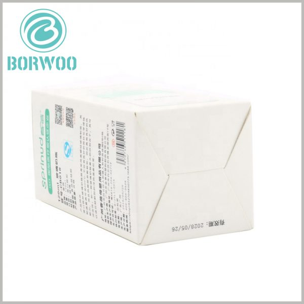 cheap feeding bottle packaging boxes wholesale. Easy to fold cardboard packaging, the product packaging can be folded when the packaging is empty.