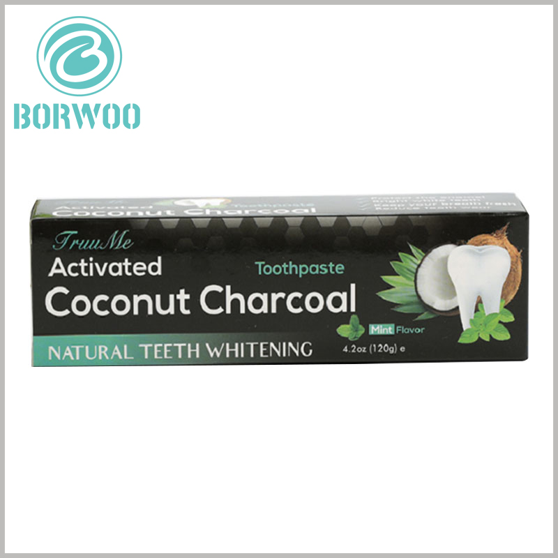 cheap printable packaging for toothpaste box. The main design of the 4.2-ounce toothpaste packaging design is related to the product characteristics, and the graphics are used to allow customers to identify the product characteristics as quickly as possible.