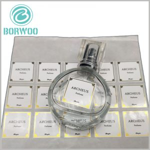 cheap printed paper labels for perfume bottles.The perfume label is pasted on the transparent bottle, which can explain and explain the perfume.