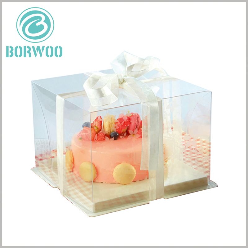 clear cake boxes wholesale. Food-grade PET materials ensure the safety of customized packaging, which is very important for cake sales.