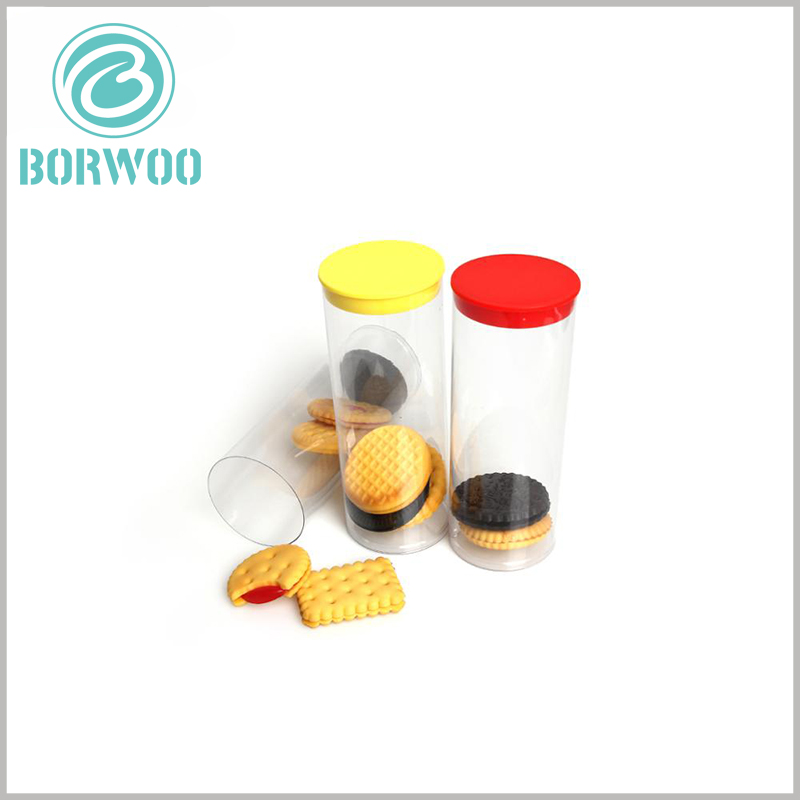 custom food grade plastic tube packaging for cookies. The tube packaging uses food-grade safe materials to ensure 100% safety in food sales.