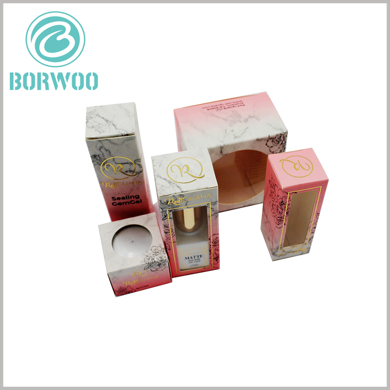 cosmetic packaging box with window wholesale. Custom cosmetics packaging design is differentiated, which can reflect the differentiation of products and brands.