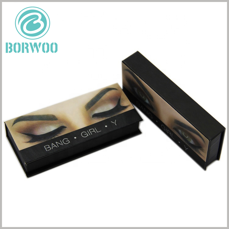 creative empty lash boxes custom. False eyelashes packaging boxes are sturdy and durable, with strong resistance to pressure. 1200gsm gray cardboard is used as one of the raw materials.