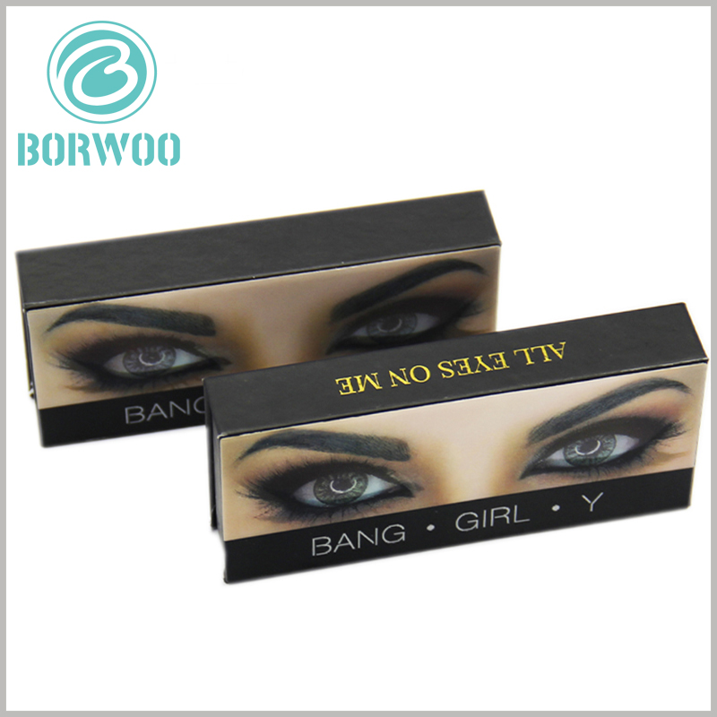 creative empty lash boxes with logo. Creative eyelash packaging is attractive, and the brand name or logo is printed under the creative pattern to maximize brand awareness.