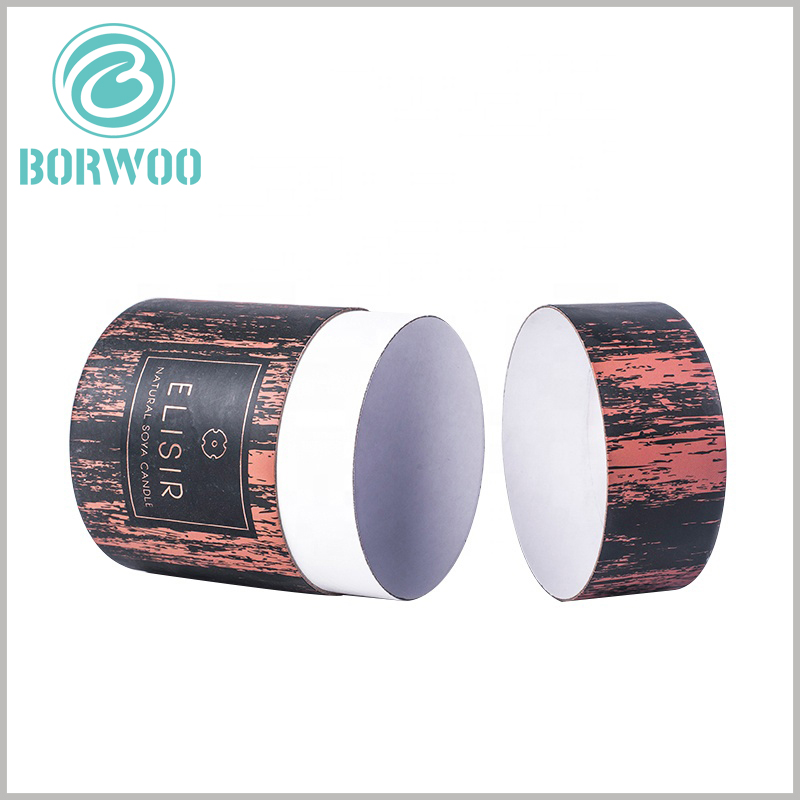 creative paper tube packaging boxes for candles.Custom round cardboard boxes with lids, with unique packaging design and visual sense, will be able to stand out on the shelf