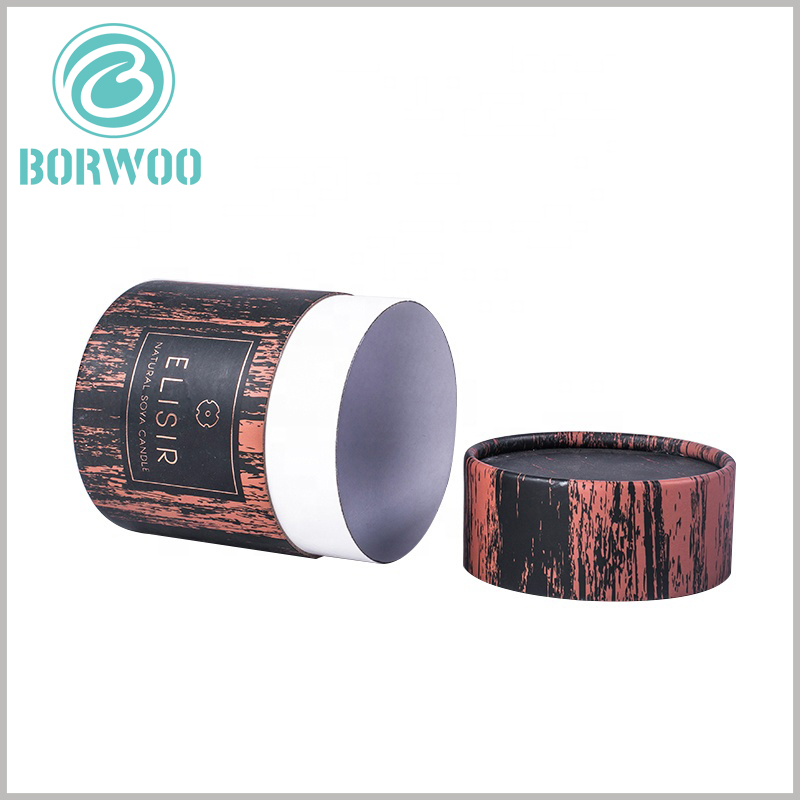 creative tube packaging boxes for candles. The customized cylinder packaging has three parts, namely the inner tube, the outer tube and the paper cover.