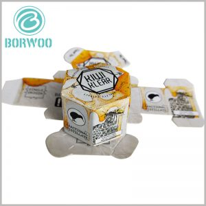 custom Creative hexagonal boxes for food packaging. Bees, honeycombs, honey, etc., as the main elements of food packaging design, can intuitively reflect the characteristics and allure of food.