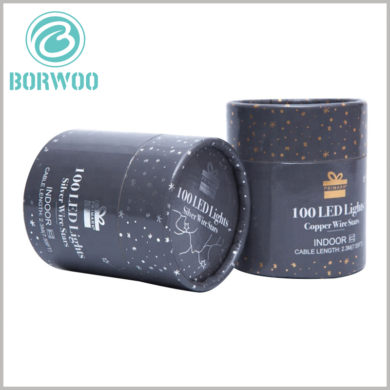 custom cardboard round boxes with lids for led lights. The overall design of the LED lamp packaging is the same, but for different styles, the packaging has subtle differences to reflect the differences of the products.