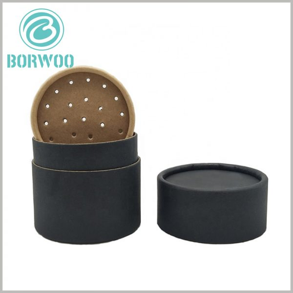custom cardboard tube for seasoning packaging. The black cardboard tube packaging can print unique content, and the packaging design reflects the characteristics of the product.