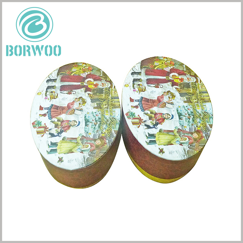 custom christmas gift boxes wholesale.The edge of the lid of the oval packaging is flat without curling. We provide a variety of packaging improvement solutions to help your product packaging be more perfect.
