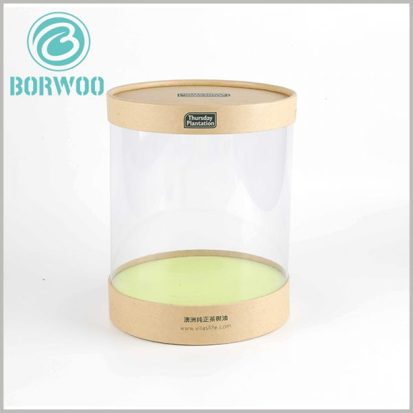 custom clear tube packaging with kraft lids. Clear round boxes are like a high-end showcase, which will improve the display effect of products and attract more customers to buy products.