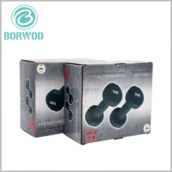 custom corrugated packaging for dumbbells. High-quality corrugated paper has excellent load-bearing capacity and is one of the best choices for dumbbell sports packaging.