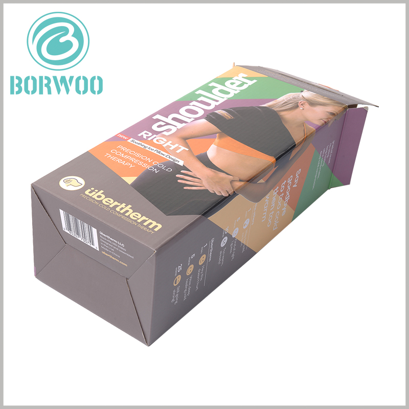 custom corrugated packaging for sports brace. Customizing the printed patterns and text information of corrugated packaging is an important way for customers to identify products.