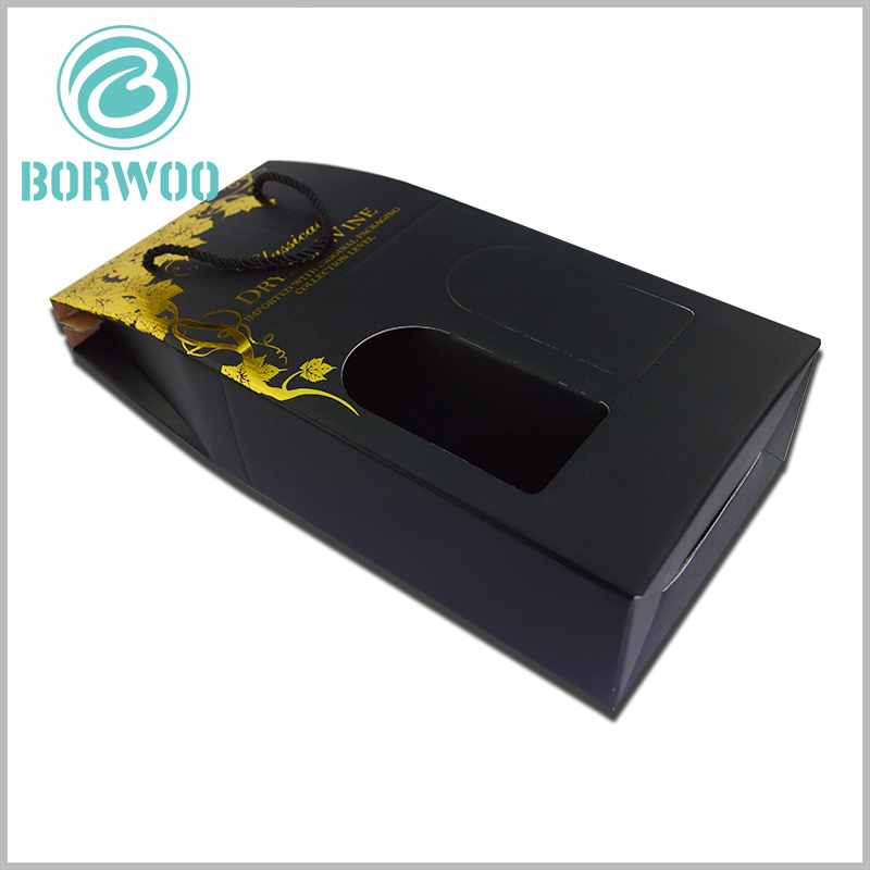 custom corrugated wine boxes for double bottle. Unique and artistic customized packaging can increase the appeal of red wine and give customers a unique brand impression.