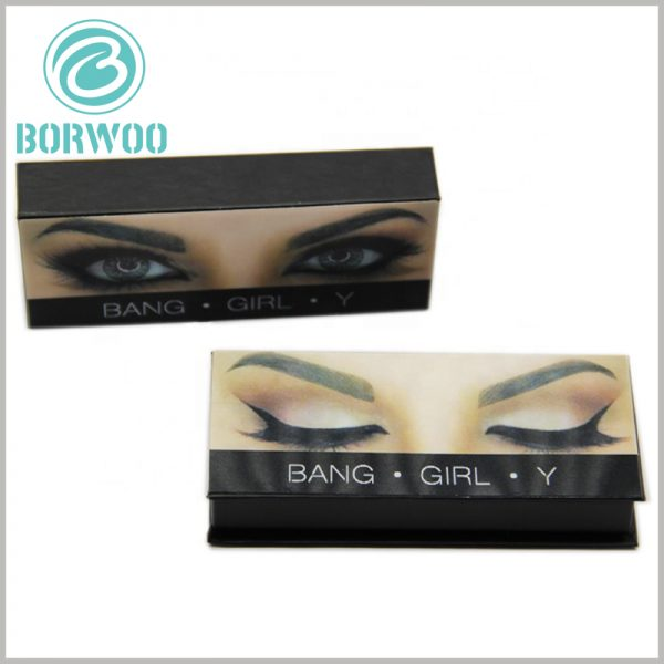 custom creative empty lash boxes with logo. The creative design makes the cardboard eyelash boxes unique, creative, and can quickly help the brand build its image.